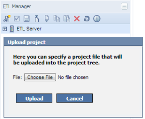 Import Project into Jedox ETL