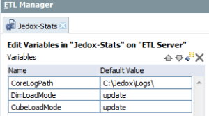Jedox ETL Variables