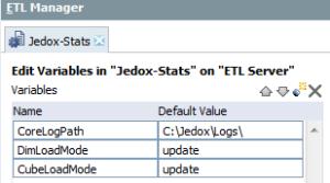 Jedox ETL Variables